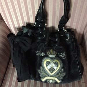 Juicy Couture - Black Heart Clutch Bag